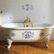 Baignoire sur pied Herbeau Joséphine en fonte blanche, 155 x 78 cm
