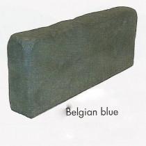 Bordure Courtstone haut. 20 cm ép. 8 cm long. 50 cm couleur Belgian Blue, l'unité