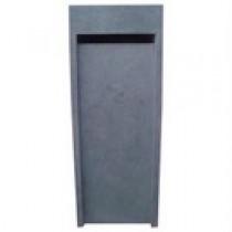 Boite aux lettres en pierre bleue chinoise finition meulée modèle N° 1 dimension 40 x 40 cm hauteur 104 cm, l'unité