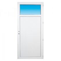 Porte de service pvc OCCULUS poussant gauche, 215 x 90 cm