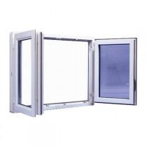 Fenêtre 2 vantaux en PVC, 95 x 100