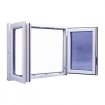 Fenêtre 2 vantaux en PVC, 95 x 120