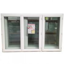 Fenêtre 3 vantaux en PVC, 135 x 210
