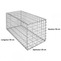 Gabion Rectangulaire 50x20x20 - fil 5 mm - maille 5x20 cm