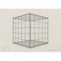 Gabion Cubique 50x50x50 - fil 4,5 mm - maille 5x10 cm