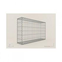 Gabion Rectangulaire 100x60x20 - fil 4 mm - maille 5x10 cm