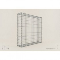 Gabion Cubique 100x100x20 - fil 4 mm - maille 10x10 cm