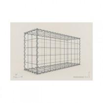 Gabion Cubique 100x100x30 - fil 4,5 mm - maille 5x10 cm