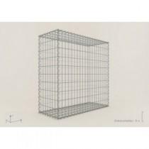 Gabion Cubique 100x100x40 - fil 4 mm - maille 5x10 cm