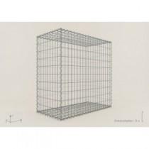 Gabion Cubique 100x100x50 - fil 5 mm - maille 10x10 cm