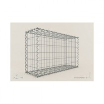 Gabion Rectangulaire 100x60x30 - fil 4 mm - maille 5x10 cm