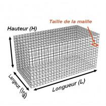 Gabion Rectangulaire 200x100x100 - fil 4,5 mm - maille 5x10 cm