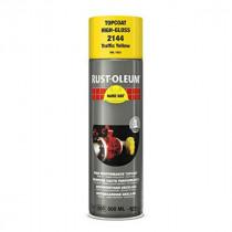Peinture de Retouche Top Coat Rust-Oleum Jaune Signalisation Aérosol 500 ml