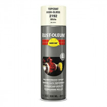 Peinture de Retouche Top Coat Rust-Oleum Blanc Aérosol 500 ml