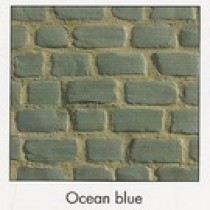 Pavés Courtstone Natural largeur 12,9 x longueur variable x 5,8 cm couleur Ocean Blue, la palette de 5,465 M2