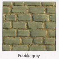 Pavés Courtstone Natural largeur 12,9 x longueur variable x 5,8 cm couleur Pebble Grey, la palette de 5,465 M2