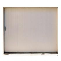 Porte de garage coulissante en PVC sans hublots 200x300cm