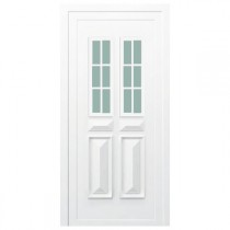 Porte d'entrée PVC Orne blanche, 200x90cm, poussant droit