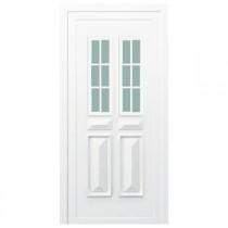 Porte d'entrée PVC Orne blanche, 200x80cm, poussant droit