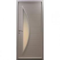 Porte d'entrée Bois prépeint Gwen, 215x90cm, poussant droit