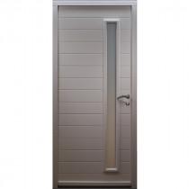 Porte d'entrée Bois prépeint Ema, 215x90cm, poussant gauche