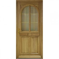 Porte d'entrée vitrée en Chêne Julia, 215x90cm, poussant droit
