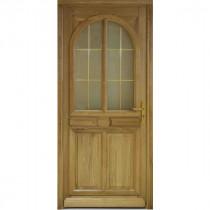 Porte d'entrée vitrée en Chêne Julia, 215x90cm, poussant gauche