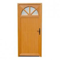 Porte de service vitrée Bois exotique Aude, 215x90cm, poussant gauche