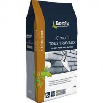 Ciment Tous Travaux Gris Bostik Sol et Mur Intérieur/Extérieur 5 kg