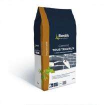Ciment Tous Travaux Blanc Bostik Sol et Mur Intérieur/Extérieur 5 kg