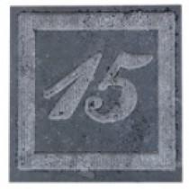 Plaque de rue en pierre bleue meulée 1 ou 2 chiffres rectangulaire