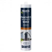 Mastic Silicone Etanchéité Gris Béton Bostik S351 Bâtiment 300 ml