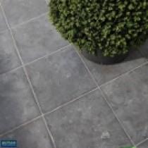 Pierre bleue Jinin Stone  40 x 40 x 3 cm, surface grésée, le M2