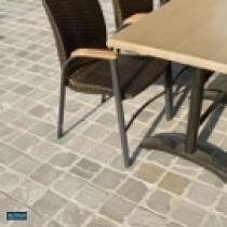 Pavés en grès gris Kandla 20 x 20 x 3 à 5 cm surface brute, le M2