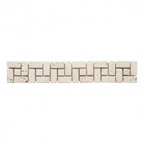 Frise Carrelage Ivoire Travertin Naturel 3559, 5 x 30 x 1 cm