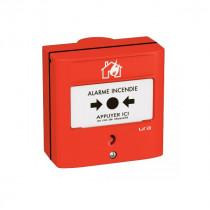 Dispositif Manuel d'Alarme URA à Membrane Réarmable Rouge 357277