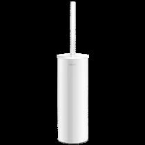 Brosse WC avec Couvercle Delabie Inox Epoxy Blanc 4051EW