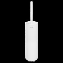 Brosse WC avec Couvercle Delabie Inox Epoxy Blanc Mat 4051MW
