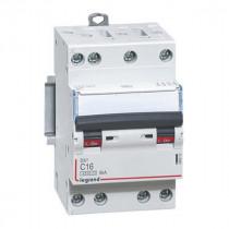 Disjoncteur Legrand DNX³4500 6kA Tétra 400V~ 16A Courbe C Vis 406910