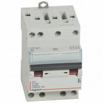 Disjoncteur Legrand DNX³4500 6kA Tétra 400V~ 20A Courbe C Vis 406911
