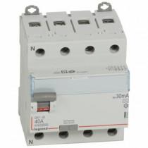 Inter Différentiel Legrand DX³-ID 4P 400V~ 40A typeAC 30mA Vis 411661