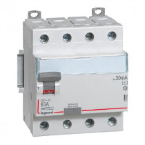 Inter Différentiel Legrand Vis DX³-ID 4P 400V~ 63A typeAC 30mA 411662