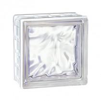 Brique de verre incolore Cubiver 19.8x19.8x8 cm Aspect nuagé, par 5 U
