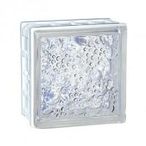 Brique de verre incolore Cubiver 19.8x19.8x8 cm, aspect bullé, par 5 U