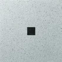 Dalle Marlux Fiorentina 40 x 40 x 3,6 cm couleur Gris uni avec un cabochon, le M2