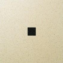 Dalle Marlux Fiorentina 40 x 40 x 3,6 cm couleur Beige uni avec 1 cabochon, le M2