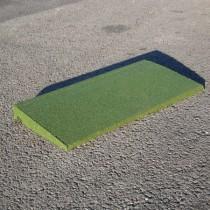 Bordure caoutchouc chanfreinée Hexdalle XE 50x25cm, ép 1 à 4,5cm, couleur verte