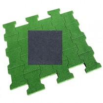 Dalle/pavé caoutchouc 80x80x2 cm, couleur noire, la dalle