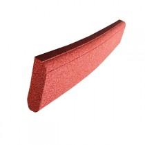 Bordurette caoutchouc P1-P2, en 1 m, haut 20 x ép 6 cm,  rouge brique