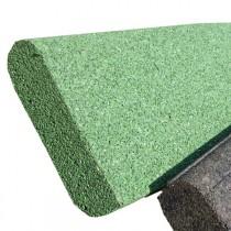 Bordurette caoutchouc P1-P2, en 1 m, haut 20 x ép 6 cm, couleur verte